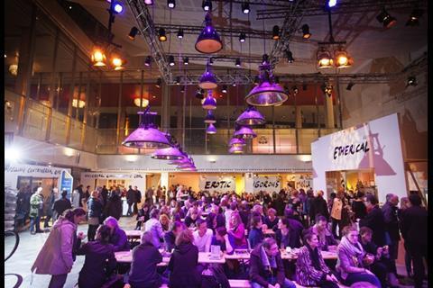 The scene at festival hub De Doelen